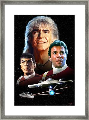 Star Trek II - The Wrath Of Khan Framed Print by Paul Tagliamonte
