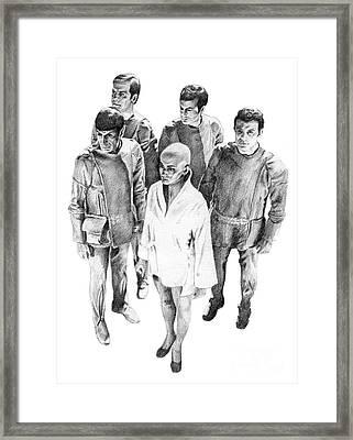 Star Trek - Meeting With V'ger Framed Print by Liz Molnar