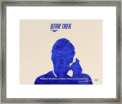Star Trek Original - Kirk Quote Framed Print by Pablo Franchi