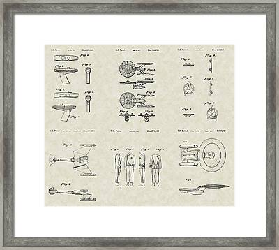 Star Trek Patent Collection Framed Print by PatentsAsArt