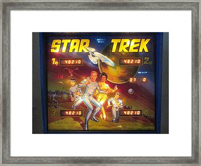 Star Trek Pinball Screen  Framed Print by David Lovins