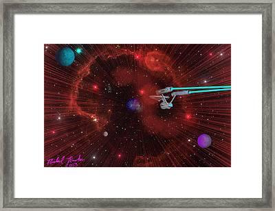 Star Trek - Punch It  Framed Print by Michael Rucker