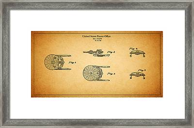 Star Trek - Spaceship Patent 1984 Framed Print by Mark Rogan
