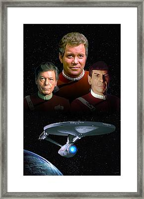 Star Trek - The Undiscovered Country Framed Print by Paul Tagliamonte