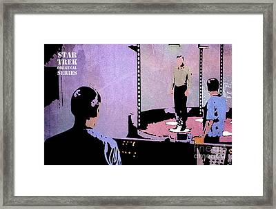 Star Trek Transportation 2 Framed Print by Pablo Franchi