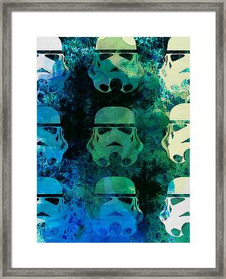 Star Warriors Watercolor 1 Framed Print by Naxart Studio