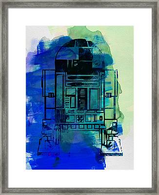 Star Warriors Watercolor 4 Framed Print by Naxart Studio