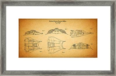 Star Wars - Space Craft Patent Framed Print by Mark Rogan