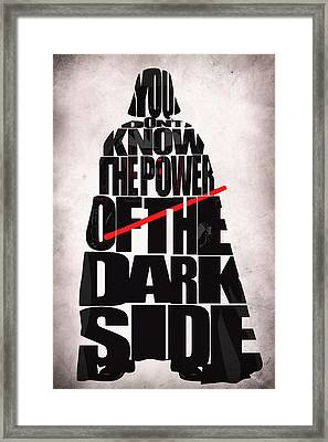 Star Wars Inspired Darth Vader Artwork Framed Print by Ayse Deniz