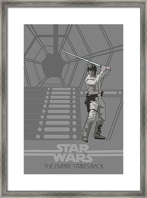 Star Wars Original Trilogy Ep 5 Framed Print by Edgar Ascensao