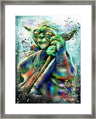 Star Wars Yoda Framed Print by Daniel Janda