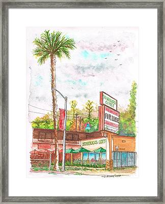 Starbucks Coffee In Sunset Blvd - West Hollywood - California Framed Print by Carlos G Groppa