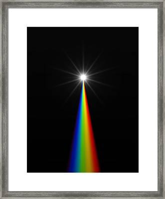 Starburst And Spectrum Framed Print by David Parker