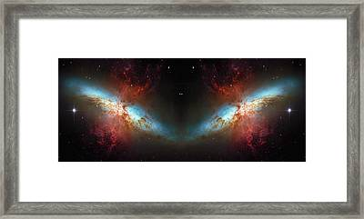 Starburst Galaxy Reflection Framed Print by The  Vault - Jennifer Rondinelli Reilly