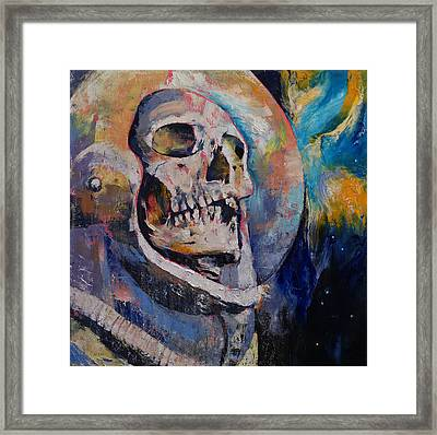 Stardust Astronaut Framed Print by Michael Creese