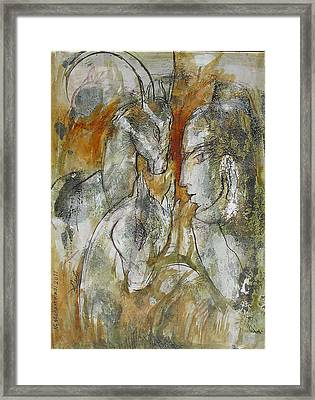 Stare Framed Print by Floria Varnoos