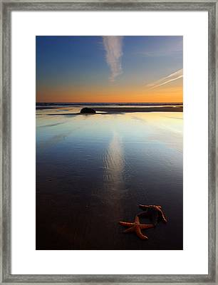 Starfish Sunset Framed Print by Mike  Dawson