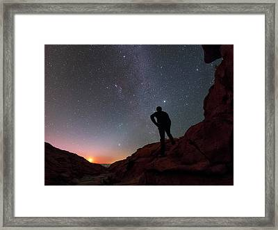 Stargazing In The Atacama Desert Framed Print by Babak Tafreshi