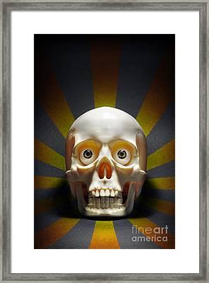 Staring Skull Framed Print by Carlos Caetano