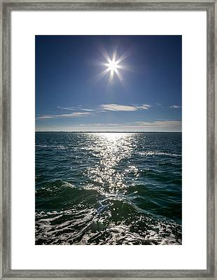 Starlight Upon The Seas Framed Print by Karen Wiles