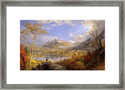 Starrucca Viaduct. Pennsylvania Framed Print by Jasper Francis Cropsey