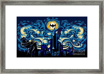 Starry Knight Framed Print by Three Second
