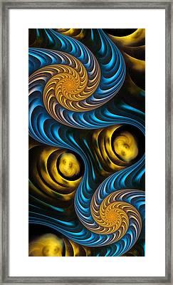 Starry Night - Fractal Art Framed Print by Anastasiya Malakhova