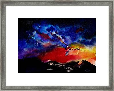 Starry Night Framed Print by Isabel Salvador