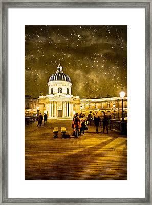 Starry Night Over The Institut De France Framed Print by Mark Tisdale