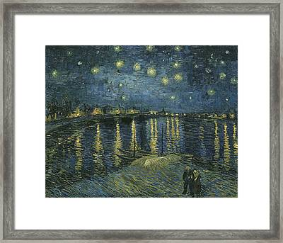 Starry Night Over The Rhone Framed Print by Georgia Fowler