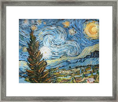 Starry Starry Ned Framed Print by Al Hart