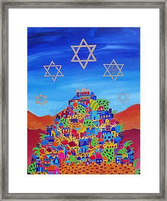 Stars Above Jerusalem Framed Print by Dawnstarstudios