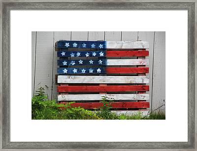 Stars And Stripes Framed Print by Becca Brann