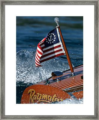 Stars And Stripes Ensign Framed Print by Steven Lapkin