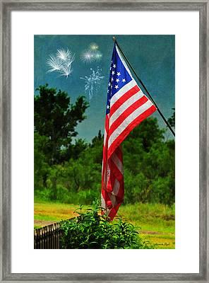Stars And Stripes Forever Framed Print by Karen Slagle