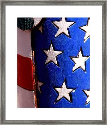 Stars And Stripes Framed Print by Joe Kozlowski
