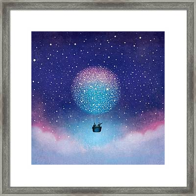 Stars Baloon Framed Print by Roberto Weigand