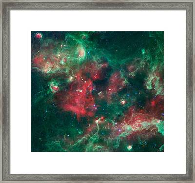 Stars Brewing In Cygnus X Framed Print by The  Vault - Jennifer Rondinelli Reilly