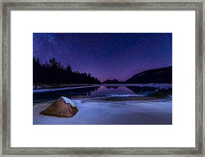Stars On Ice Framed Print by Michael Blanchette