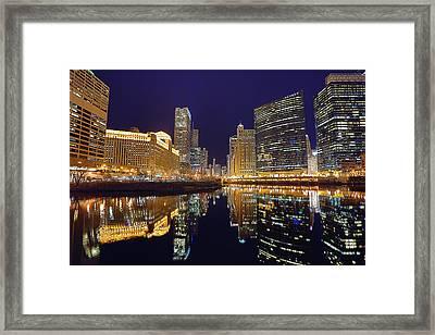 Stars Over Chicago Framed Print by Nicholas Johnson