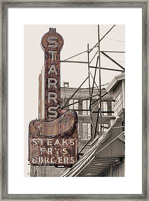 Stars Steaks Frys And Burgers Framed Print by JC Findley