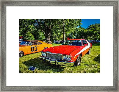 Starsky And Hutch Ford Gran Torino Framed Print by Grace Grogan