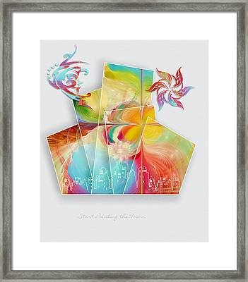 Start Painting The Town Framed Print by Gayle Odsather
