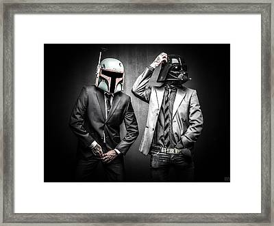 Starwars Suitup Framed Print by Marino Flovent
