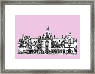 Stately Home In Pink Framed Print by Building  Art