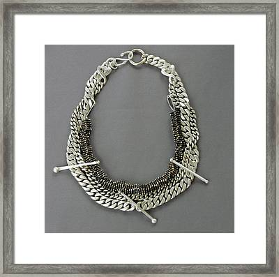 Statement Necklace Framed Print by Mirinda Kossoff