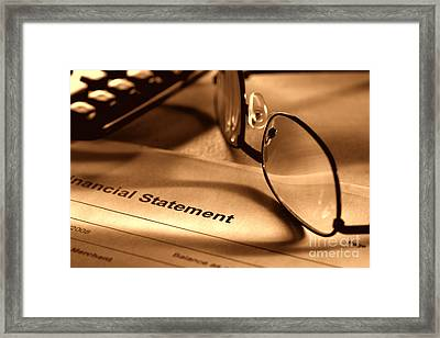 Statement With Glasses Framed Print by Olivier Le Queinec