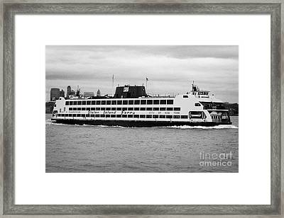 staten island ferry Andrew J Barberi new york usa Framed Print by Joe Fox