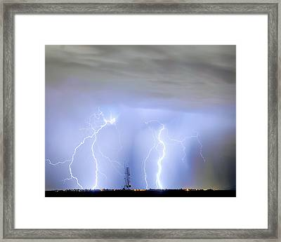 Static On The Line Framed Print by James BO  Insogna