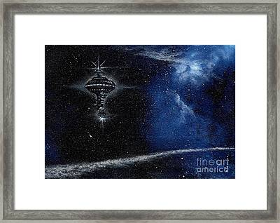 Station In The Stars Framed Print by Murphy Elliott